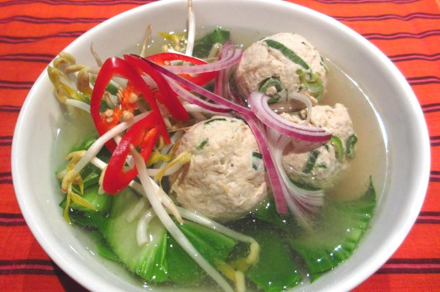 Asian Inspired Chicken BallSoup