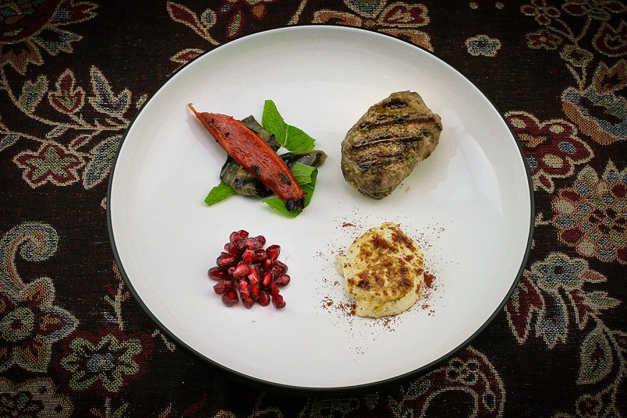 Lamb Koftas with Grilled Vegetables